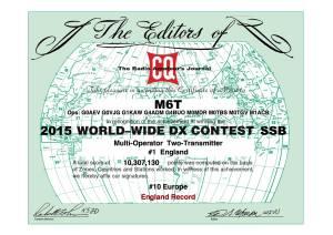 M6T CQWW SSB 2015